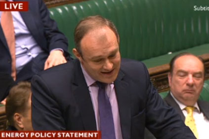 Energy minister Ed Davey announcing the bill in the House of Commons