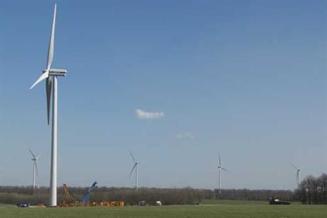 The Maida project will use 2MW Vestas turbines seen here in Karvarna, Hungary