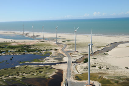 Parajuru wind park, Brazil