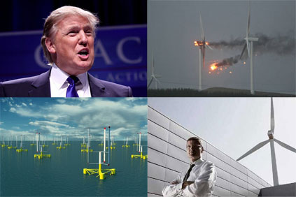 Donald Trump, burning/ floating turbines, and Vestas were all in the news in 2011