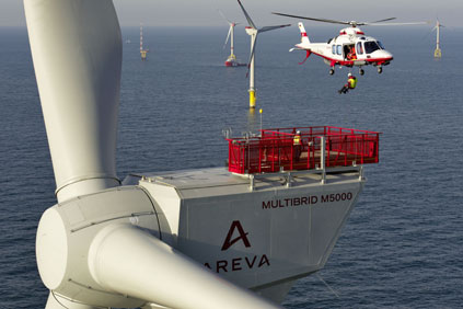 The project will use Areva's M5000 turbine