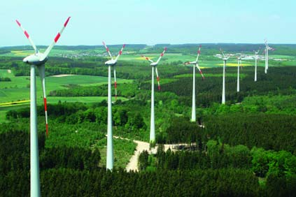 Enercon units in at Juwi project at Kisselbach, Germany