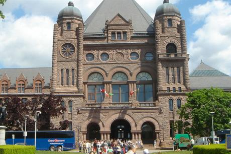 Ontario's parliament… province ended FIT programme