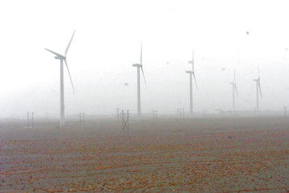 Yumen Cangma Wind Farm, part of the Jiuquan wind farm development