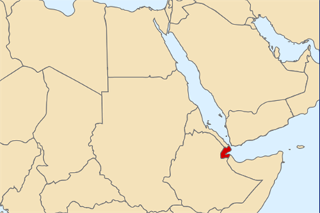 Djibouti is located in the Horn of Africa