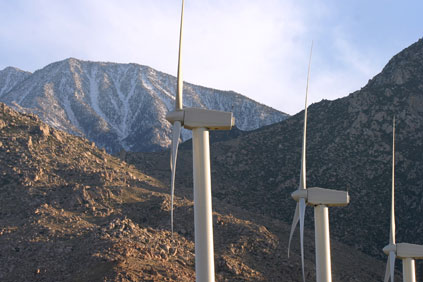Vestas V47 turbines at the Cabazon Shell Wind Energy project