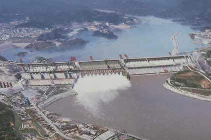 The Three Gorges Dam - Miao compared it to the 10GW Jiuquan wind project.