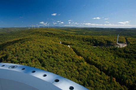The 128MW Jardin d'Eole project in Quebec