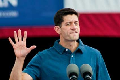 Republican vice presidential hopeful Paul Ryan