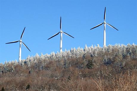 The Seasburg windfarm in Vermont, one of the states under attack (pic:Professor Bop)