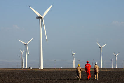 The wind farms will be part of the Hami project in Xinjiang