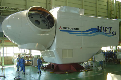 The nacelle for the 2.4MW machine