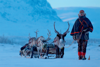 Reindeer herders say the Mount Glotesvalen wind farm encroaches on grazing rights