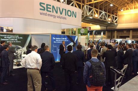 Senvion unveiled its 3.4M140 turbine, adapted for the US market, on day one of Windpower 2016
