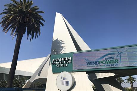 AWEA Windpower 2017 is taking place at the Anaheim Convention Centre, Los Angeles, California