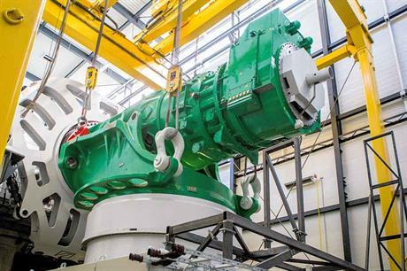 Adwen's 8MW drivetrain is undergoing testing in Germany