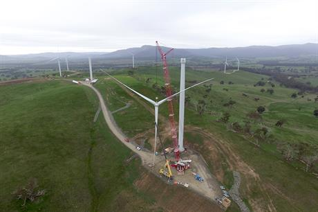 Projects currently under construction in Australia totals 834MW including the 240MW Ararat project in Victoria