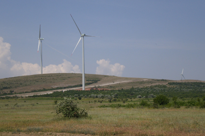 The 34MW Agighiol wind farm is located in the Valea Nucarilor municipality