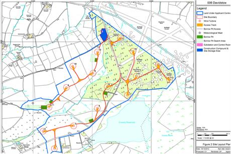 The plans for the Davidstow wind farm