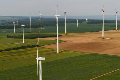 Europa Energie's project at Hocheim... most of Germany's wind power came from onshore wind