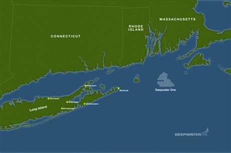 Deepwater One project is located northeast of Long Island