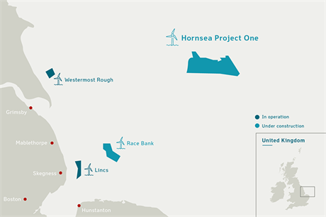 Dong Energy's 1.2GW Hornsea Project One was the largest offshore wind investment in 2016