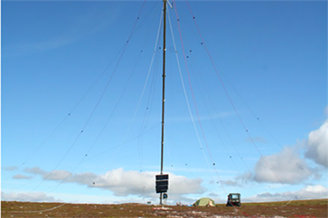 A met mast at the Dorenell project