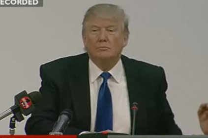 Trump appearing before the Scottish parliamentary committee