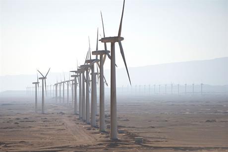 The Zafarana wind farm in Egypt