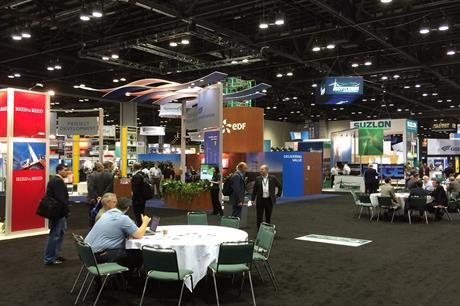 Despite visitor numbers down on last year, exhibitors are reporting good business deals at AWEA 2015