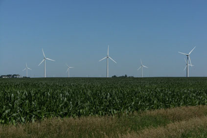 The Iowa wind farm comprises 100 GE 1.5MW XLE turbines