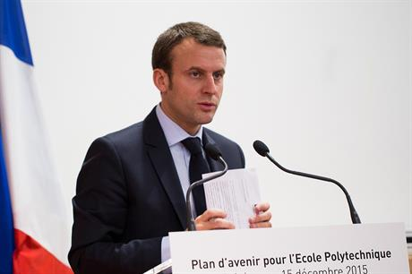 France's president-elect Emmanuel Macron (pic: Ecole Polytechnique)