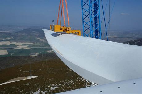 The blade is installed on the G128-5MW in Alaiz