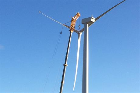 Thirty-eight GE 1.6MW turbines were due to be installed on the site
