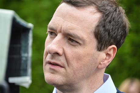 Chancellor Osborne: wind must learn to talk Conservative, leaders recommend. Pic: Gareth Milner