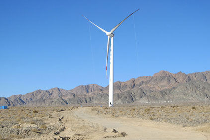 The project features two Goldwind 1.5MW turbines