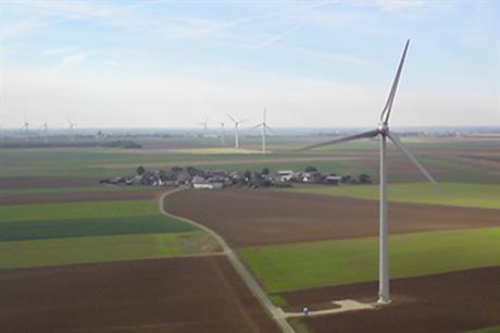 Enercon turbines at Boralex's Grand Camp project in central France