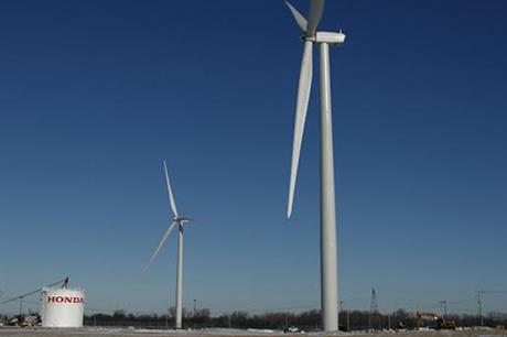 The turbines at Honda's Russells Point plant