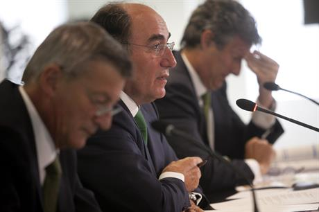 Iberdrola's executives at the Q1 results presentation