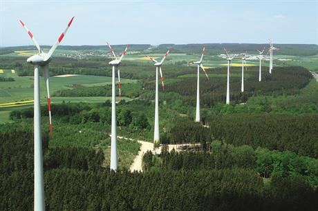 The 22.4MW Kisselbach wind farm near Mainz, developed by Juwi