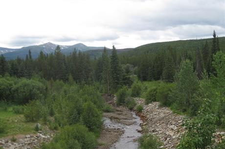The site of the Meikle project, British Columbia, Canada