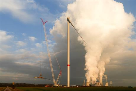 Nordex installed the 134-metre tubular steel tower in February