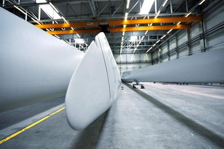 Nordex produces most of its blades at its facilities in Rostock