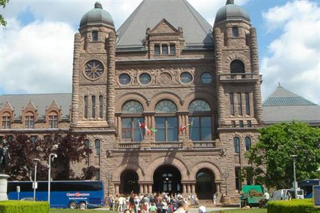 Ontario's parliament building — the state is fighting several lawsuits over its defunct FIT scheme