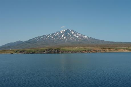 The Bogdan Khmelnytsky volcano on Iturup in the Kuril Islands