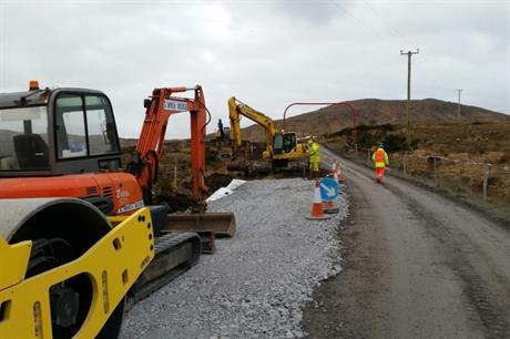 Work on the Galway Wind Project began in January 2015 (pic: SSE)