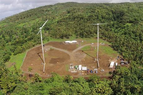 Samoa's first wind farm has a 550kW capacity