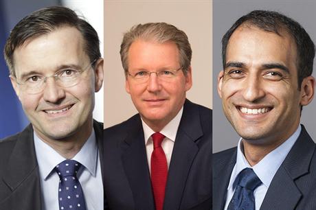 New COO Christoph Seyfarth (left) joins CEO Jurgen Geissinger (centre) and CFO Manav Sharma (right) at Senvion