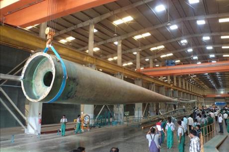 Suzlon's longest yet — the 54.8-metre blade for the S111 turbine
