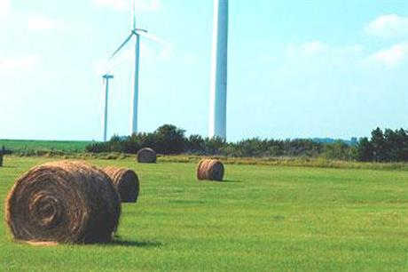 Suzlon's S88 2.1MW turbine is featured on the nearby Walnut Ridge project